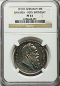 German States:Bavaria, German States: Bavaria. Luitpold Proof 3 Mark 1911-D PR61 NGC,...