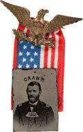 Political:Ferrotypes / Photo Badges (pre-1896), Ulysses S. Grant: Dated Ferrotype Badge....