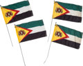 "Movie/TV Memorabilia:Props, A Group of Prop Flags from ""The Expendables.""..."