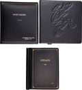 Movie/TV Memorabilia:Documents, A Group of Black Leather Script Holders, 1970s-2000s....