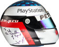 Movie/TV Memorabilia:Costumes, A Jean Alesi Signed Racing Helmet, 1998....