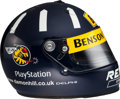 Movie/TV Memorabilia:Memorabilia, A Damon Hill Signed Racing Helmet, 1998-1999....