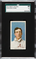 Baseball Cards:Singles (Pre-1930), 1909-11 T206 Sweet Caporal Eddie Plank SGC 40 VG 3 - A Hobby Hall of Fame All-Time Great. ...