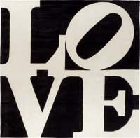 Robert Indiana (American, b. 1928) Russian Love, circa 1995 Chrome-dyed, hand-carved tufted archival