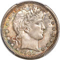 Barber Quarters, 1905-O 25C MS65+ PCGS. CAC....
