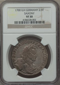 German States:Saxony, German States: Saxony. Friedrich August I 2/3 Taler 1700-ILH VF30 NGC,...