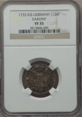 German States:Saxony, German States: Saxony. Lot of Three Certified Minors,... (Total: 3 coins)
