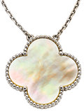 Estate Jewelry:Necklaces, Mother-of-Pearl, White Gold Necklace, Van Cleef & Arpels. ...