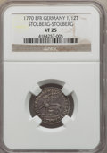 German States:Stolberg-Stolberg, German States: Stolberg-Stolberg. Karl Ludwig A Trio of Certified Coins,... (Total: 3 coins)