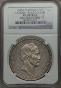 German States:Saxony, German States: Saxony. Friedrich August II 2 Taler 1854-F AU Details (Obverse Scratched) NGC,...