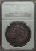 German States:Saxony, German States: Saxony. Johann Pair of Certified Double Talers 1856-61,... (Total: 2 coins)