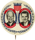Political:Pinback Buttons (1896-present), Eisenhower & Nixon: Extremely Rare Philly Badge Jugate....