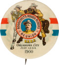 Political:Pinback Buttons (1896-present), Theodore Roosevelt: Oklahoma City Rough Riders Reunion Button....