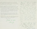 Autographs:Artists, Emily Sartain Collection of Correspondence. Dates ranging from 1942 - 1962. ...