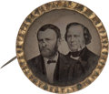 Political:Ferrotypes / Photo Badges (pre-1896), Grant & Wilson: Ferrotype Jugate Badge....