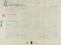Autographs:Non-American, Land Indenture in the Reign of Victoria. Manuscript on parchment,with continuation on verso. Dated February 1, 1879 and ag...
