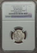 German States:Wied-Runkel, German States: Wied-Runkel. Johann Ludwig Adolph 2 Stuber 1758 XFDetails (Surface Hairlines) NGC,...