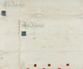 Autographs:Non-American, Pair of Land Indentures in the Reign of George The Third.Manuscript on parchment. Dated December 24, 1812. ...