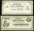Obsoletes By State:Ohio, Canaanville, OH- Canaan Coal Company $2 ND Remainder Wolka 0264-06.... (Total: 2 notes)