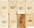 Books:Americana & American History, [Almanac]. Group of Eight. Robert B. Thomas. The Farmer'sAlmanac. Various publishers, for years 1840, 1842, 1843, 1...(Total: 8 Items)