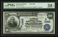 National Bank Notes:Maine, Portland, ME - $10 1902 Date Back Fr. 616 The Casco NB Ch. #(N)1060. ...