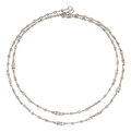 Estate Jewelry:Necklaces, Diamond, White Gold Necklace, Judith Ripka. ...