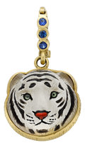 Estate Jewelry:Pendants and Lockets, Rock Crystal Quartz, Sapphire, Gold Pendant, Diane GriswoldJohnston . ...