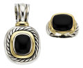 Estate Jewelry:Suites, Black Onyx, Gold, Sterling Silver Jewelry Suite, David Yurman. ...