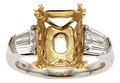Estate Jewelry:Rings, Diamond, Platinum, Gold Semi-Mount, Bvlgari. ...