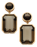 Estate Jewelry:Earrings, Smoky Quartz, Pink Gold Earrings, Piranesi. ...