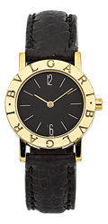 Estate Jewelry:Watches, Bvlgari Lady's Gold, Leather Strap Watch. ...