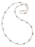 Estate Jewelry:Necklaces, Sapphire, Pink Gold Necklace. ...
