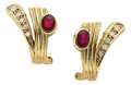 Estate Jewelry:Earrings, Ruby, Diamond, Gold Earrings, H. Stern. ...