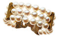 Estate Jewelry:Bracelets, Cultured Pearl, Diamond, Gold Bracelet, Judith Ripka. ...