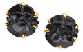 Estate Jewelry:Earrings, Black Onyx, Gold Earrings, Chanel. ...