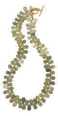 Estate Jewelry:Necklaces, Labradorite, Gold Necklace, Paula Crevoshay. ...