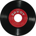 """Music Memorabilia:Recordings, Various Artists """"Rhythm and Blues -- Volume 1"""" EP Savoy 8049 (1951). Four songs include Paul Williams' """"The Hucklebuck"""" and ..."""