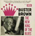 """Music Memorabilia:Recordings, Buster Brown """"The New King of the Blues"""" Mono LP Fire FLP-101/102(1960). Whether he was wailing """"Fanny Mae"""" or blasting a h..."""
