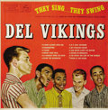 """Music Memorabilia:Recordings, Del Vikings """"They Sing... They Swing"""" Mono LP Mercury 20314 (1957).The group's first album for Mercury was their second ove..."""