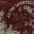 """Music Memorabilia:Recordings, Lloyd Glenn """"All Time Favorites"""" Mono 10"""" LP Swing Time 1901(1954). One of the great piano stylists had been playing since ..."""