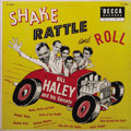 """Music Memorabilia:Recordings, Bill Haley and His Comets """"Shake Rattle and Roll"""" Mono LP Decca 5560 (1955). Haley had been performing since the late fortie..."""