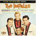 "Music Memorabilia:Recordings, Impalas ""Sorry (I Ran All The Way Home"") Stereo LP Cub 8003 (1959). In 1959, record sales were driven primarily by singles s..."