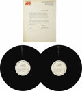 "Music Memorabilia:Recordings, ""Led Zeppelin"" White Label Test Pressing Mono LP With Letter --Atlantic (1969). This test pressing of Led Zep's first album..."