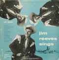 """Music Memorabilia:Recordings, """"Jim Reeves Sings"""" Mono LP Abbott 5001 (1956). """"Gentleman Jim"""" wasnearly 30 years old when he had his first hit, """"Mexican J..."""