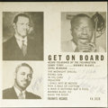 "Music Memorabilia:Recordings, Sonny Terry and Brownie McGhee ""Get On Board"" Mono 10"" LP Folkways Records (1952). Just when we think the fabulous GRT Colle..."