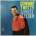 """Music Memorabilia:Autographs and Signed Items, Conway Twitty """"Lonely Blue Boy"""" Autographed Mono LP MGM 3818 (1960). Before Twitty turned his attention to C&W in the mid-'6..."""