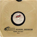 """Music Memorabilia:Recordings, The Teen Kings (Roy Orbison) """"Ooby Dooby""""/ """"Tryin' To Get To You""""10"""" 78-rpm Acetate Presto (1955). Two-sided acetate of Orb..."""