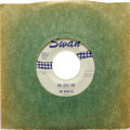 """Music Memorabilia:Recordings, Beatles """"She Loves You""""/ """"I'll Get You"""" """"Don't Drop Out"""" 45 Swan4152 (1963). When Capitol didn't see a U.S. future for the ..."""