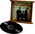 """Music Memorabilia:Recordings, Beatles Framed """"Introducing...The Beatles"""" LP SR-1062 Stereo(1964). """"Stereo"""" and """"Ad Back"""" are significant attributes of th..."""