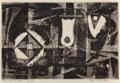 Texas:Early Texas Art - Drawings & Prints, Bill Bomar (American, 1919-1991). Projections. Etching. 5 x7-5/8 inches (12.7 x 19.3 cm). Ed. 2/10. Signed, titled, and...
